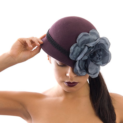 Grey Flower Vintage Inspired Grey Flower Hat