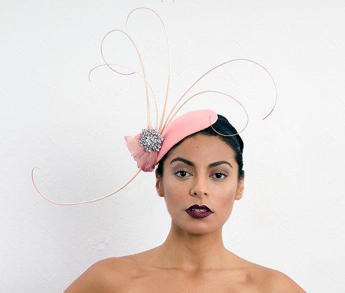 Elegant Pink 1920's Inspired Hat