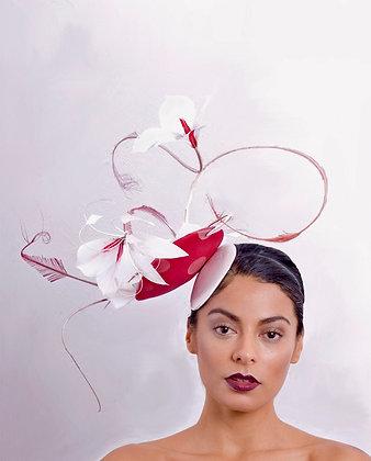 Ascot Couture Hat Pink & Subtle Orange