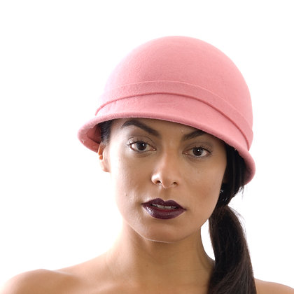 Pretty pink Vintage inspired hat.