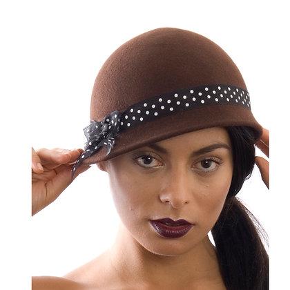 Polkadot 1930's vintage inspired polkadot hat