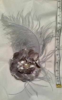 Grey,Silver & Pastel Soft Blue Headpiece accessory