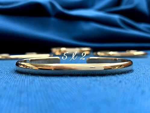5x2 10K Yellow Gold Chesapeake Bay Bracelet