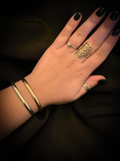 Personalized 5x2 Yellow Gold Chesapeake Bay Bracelet