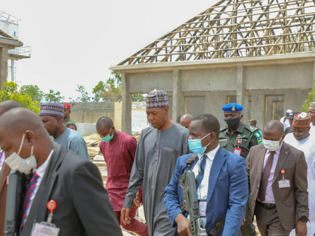 Photo News: Gov. Zulum inspects Maiduguri schools' rehabilitation project
