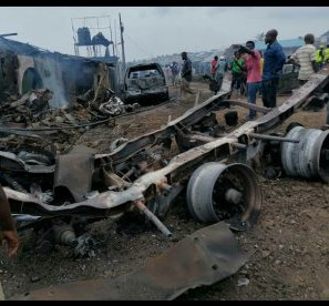 15 injured, property destroyed as gas tanker explodes in Lagos