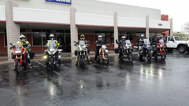 Rain means good luck, right_! Taking off this morning from _ridenow_powersports as we take on the Inaugural #NVBDR ride! The expo and film p