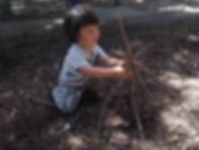 We build a gnome home. _#natureschoolla