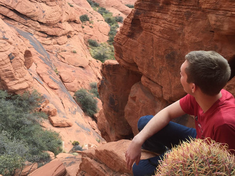 Hiking in Red Rock Canyon