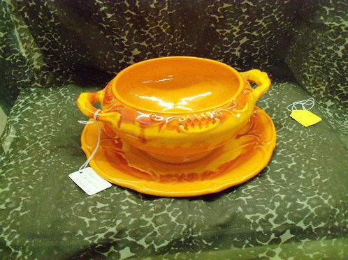 Orange Ceramic Serving set