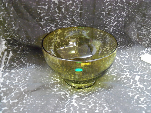 Hand-Blown Yellow Glass Bowl
