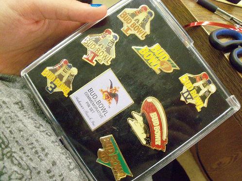 Bud Bowl Commemorative Pin Set