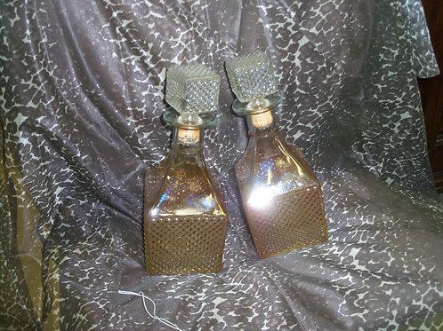 Glass bottles (pair)