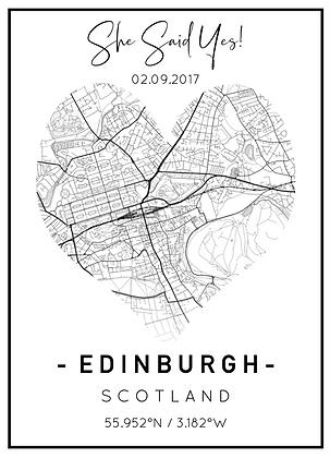 Heart Location Print