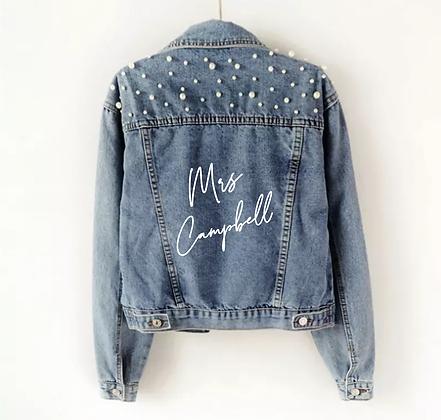 Pearl Personalised Denim Jacket