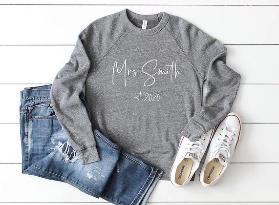Personalised Mrs Sweatshirt