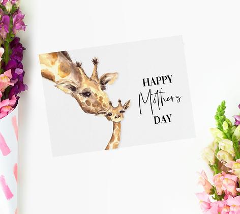 Mothers Day Card - Giraffe