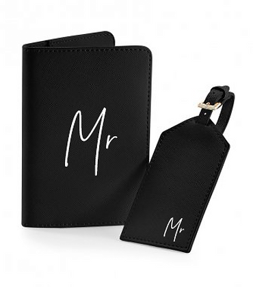 Mr & Mrs Passport Covers - Set of 2
