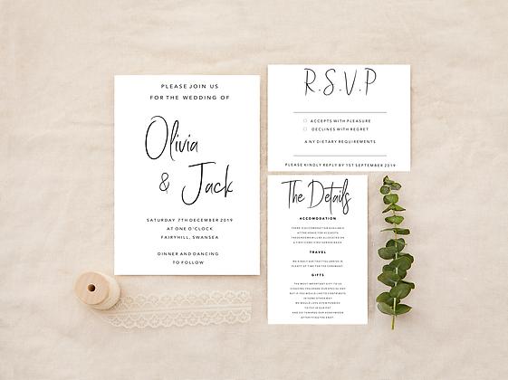 Simplistic Wedding Invitation Set