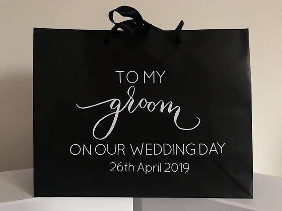 Small Black Ribbon Tie Gift Bags