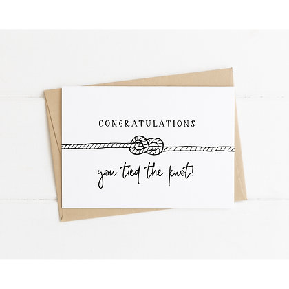 Congratulations, you tied the knot card