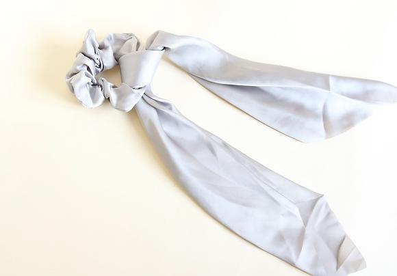 Silk Grey Scrunchie Tie