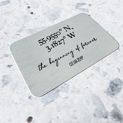 Coordinates Aluminium Wallet Card