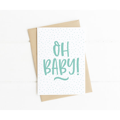 Oh Baby Congratulations Card