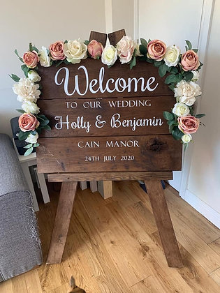 Vinyl for Welcome Sign