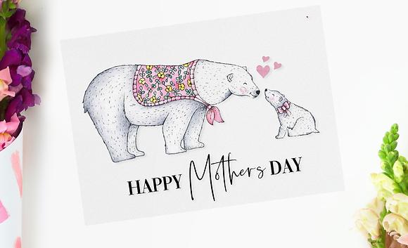 Mothers Day Card - Polar Bear