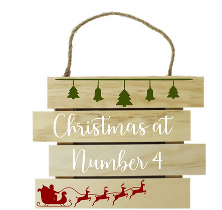 Personalised Wooden Christmas Plaque
