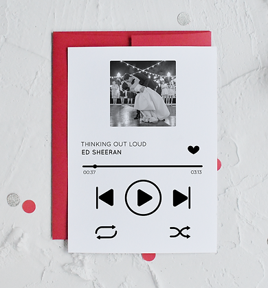 Personalised Music Player Card