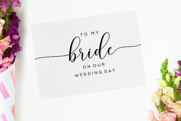 To my Bride/Groom Card