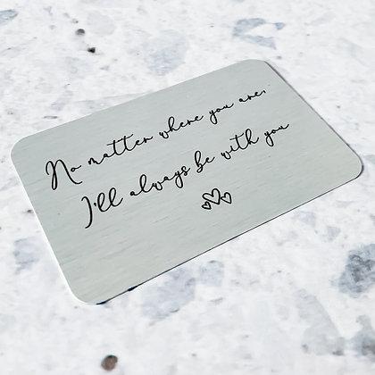 Aluminium Wallet Card