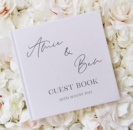 White Velvet Guest Book
