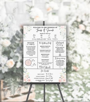 Wedding Infographic Foamboard