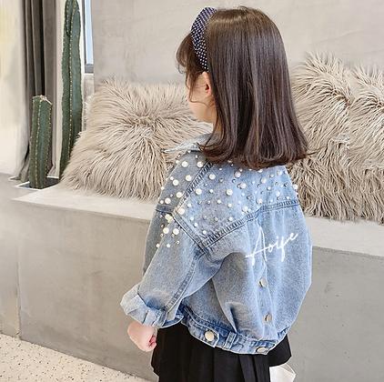 Childrens Pearl Personalised Denim Jacket