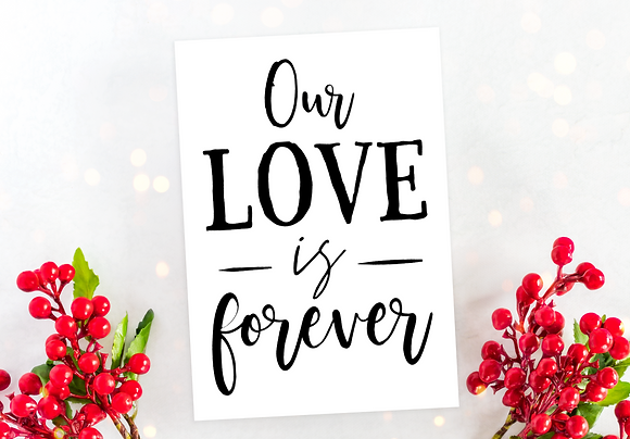 Our love is forever Valentines Day Card