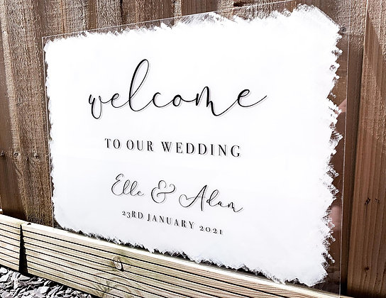 A2/A1 Acrylic Welcome Signs
