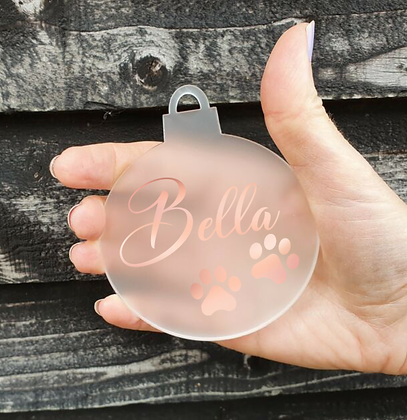 Pet Name(s) Printed Acrylic Bauble