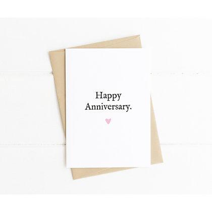 Simple Happy Anniversary Card