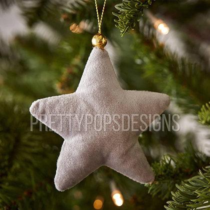 Velvet Star Christmas Ornament