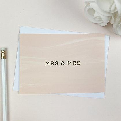 Mrs & Mrs Greeting Card