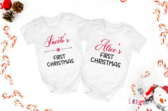 Baby's First Christmas Baby Grow
