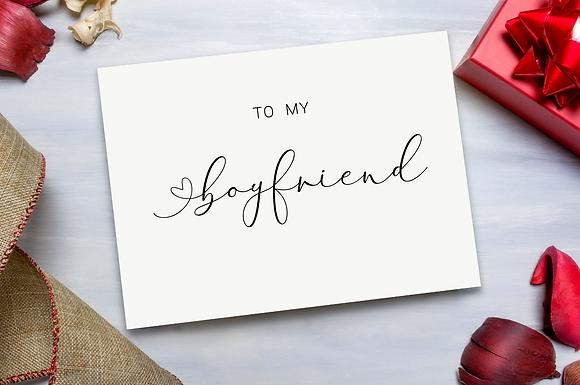 To my  Boyfriend/Girlfriend Valentines Day Card