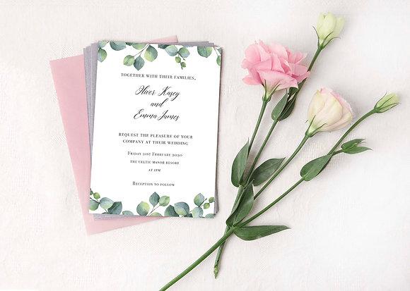 Eucalyptus Invite Set