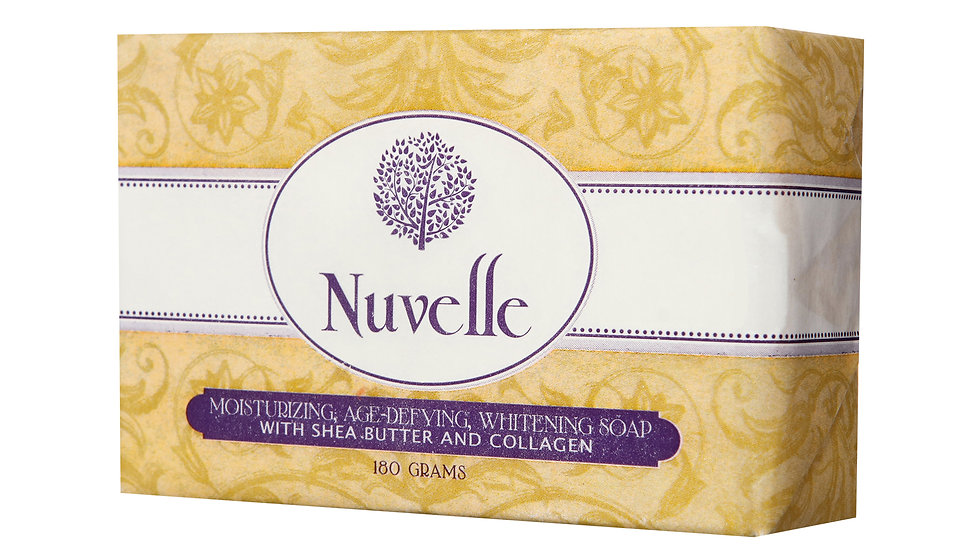 NUVELLE MOISTURIZING AGE-DEFYING WHITENING SOAP WITH SHEA BUTTER AND COLLAGEN