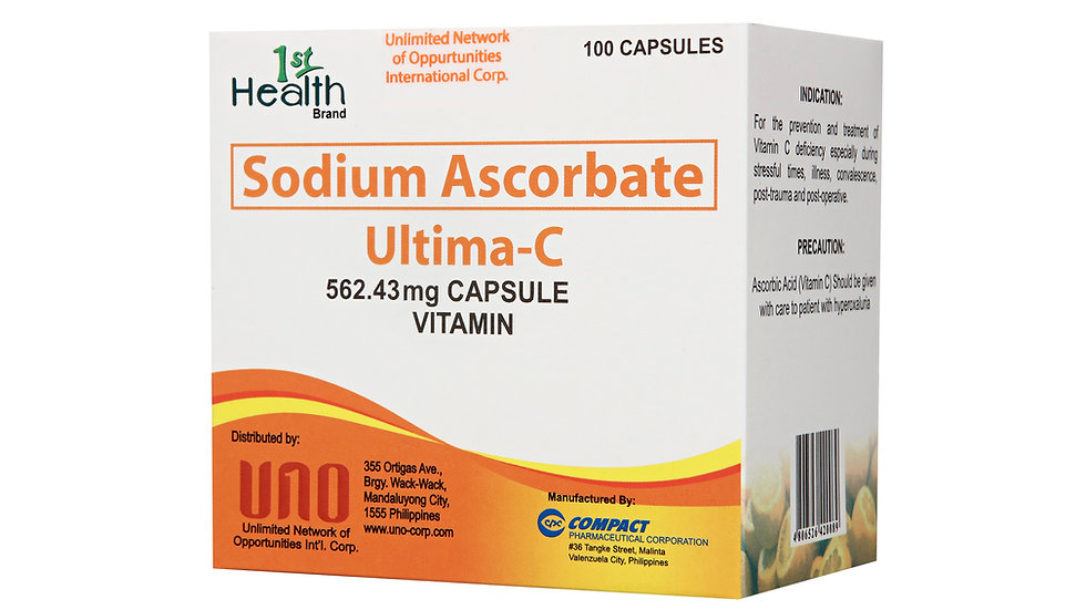 1ST HEALTH ULTIMA-C CAPSULE SODIUM ASCORBATE 500MG