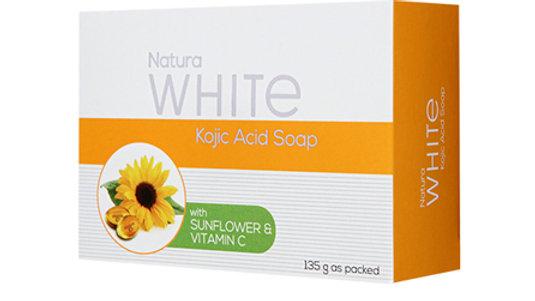 NATURAWHITE KOJIC SOAP WITH SUNFLOWER OIL AND VITAMIN C