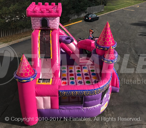 Our Princess Themed Bounce Castle is the Perfect Setting for a Child's Birthday Party. Bouncing a fun form of Exercise and gets the Kids Moving All Afternoon!